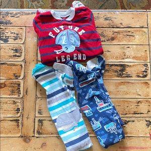 3T Carter's Feetie PJs